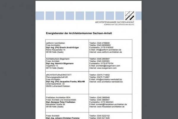 Architektenkammer Sachsen-Anhalt