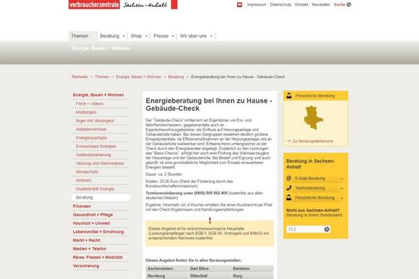 VZSA Verbraucherzentrale Sachsen-Anhalt e.V.