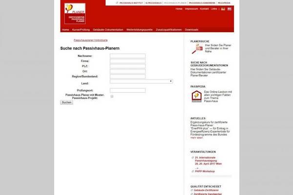 Zertifizierte Passivhausplaner
