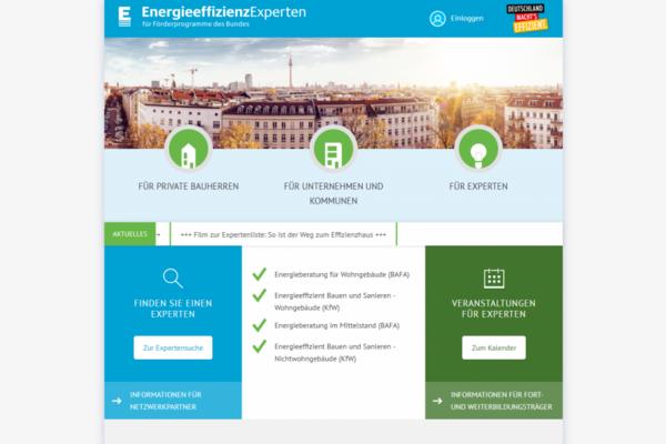 EnergieeffizienzExperten für Förderprogramme des Bundes